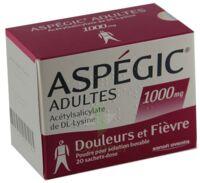 ASPEGIC ADULTES 1000 mg, poudre pour solution buvable en sachet-dose 15 à MONTPELLIER
