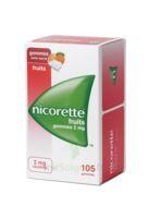 Nicorette 2 mg Gomme à mâcher médicamenteuse sans sucre fruits Plq/105 à MONTPELLIER