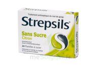 STREPSILS CITRON SANS SUCRE, pastille édulcorée à l'isomalt, au maltitol et à la saccharine sodique à MONTPELLIER