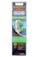 BROSSETTE DE RECHANGE ORAL-B DUAL CLEAN x 3 à MONTPELLIER