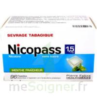 Nicopass 1,5 mg Pastille sans sucre menthe fraîcheur Plq/96 à MONTPELLIER
