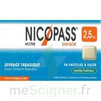 Nicopass 2,5 mg Pastille menthe fraîcheur sans sucre Plq/36 à MONTPELLIER