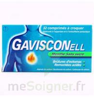 GAVISCONELL Coprimés à croquer sans sucre menthe édulcoré à l'aspartam et à l'acésulfame potas Plq/24 à MONTPELLIER