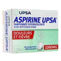 ASPIRINE UPSA TAMPONNEE EFFERVESCENTE 1000 mg, comprimé effervescent à MONTPELLIER