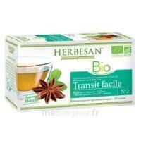 Herbesan Infusion Bio Tisane transit facile 20 Sachets à MONTPELLIER