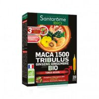 Santarome Bio Maca 1500 Tribulus Ginseng Gingembre Solution buvable 20 Ampoules/10ml à MONTPELLIER